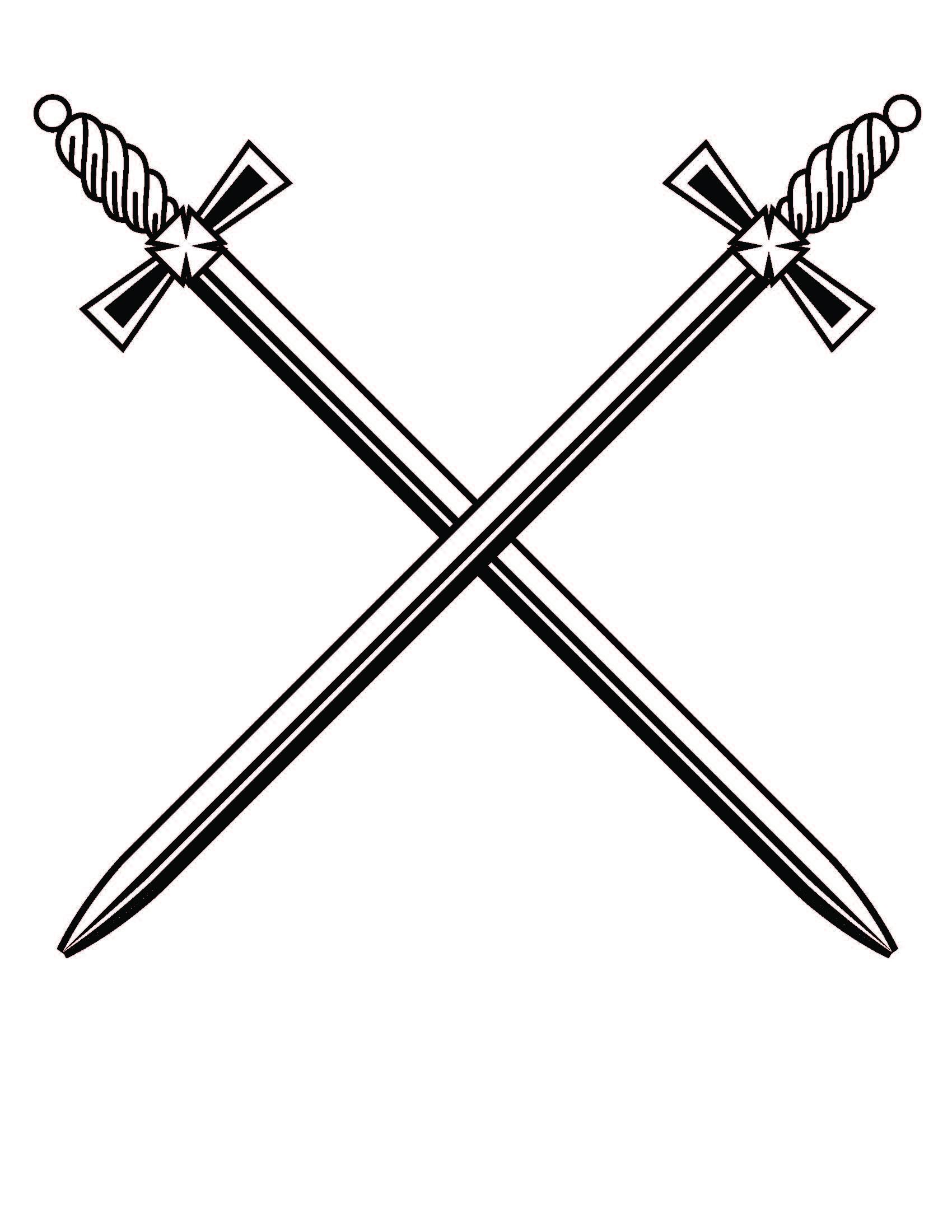 Crossed Sword Clipart