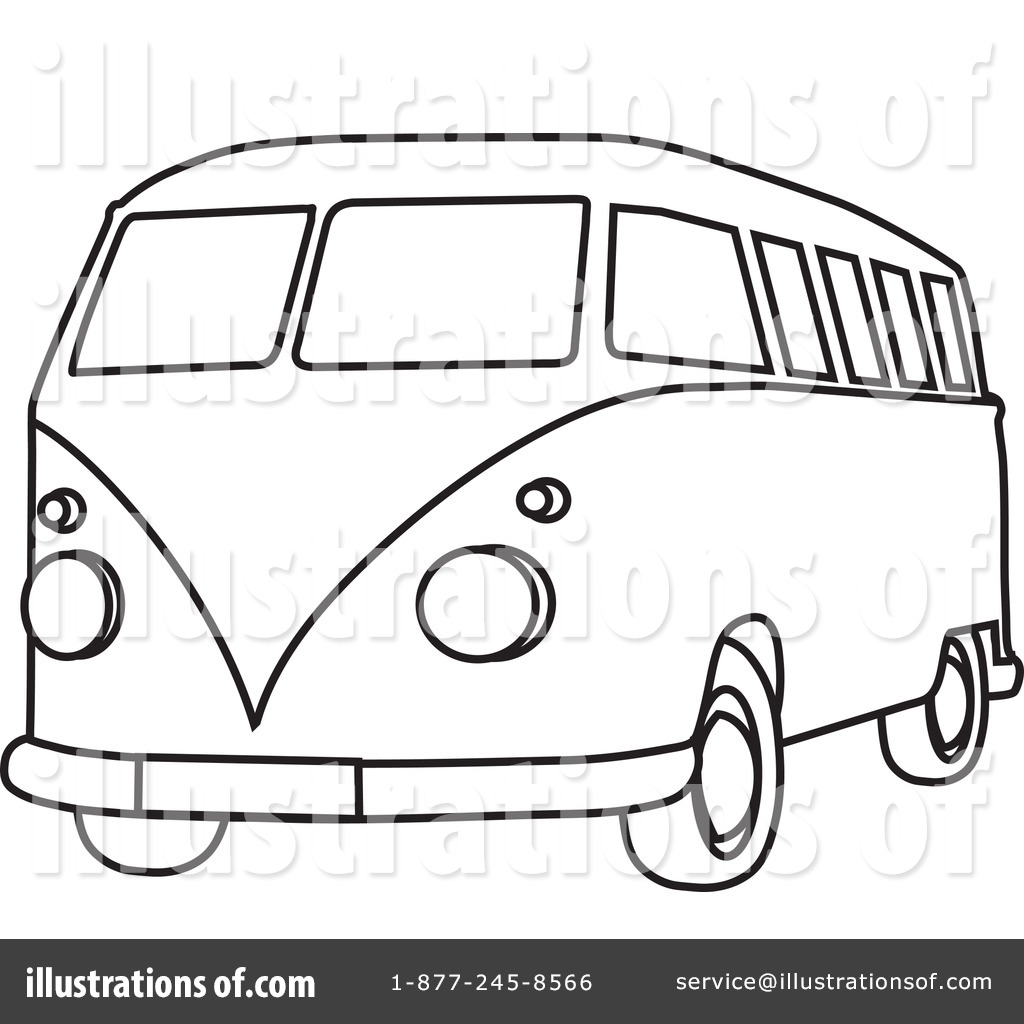 Simple Camper Coloring Pages