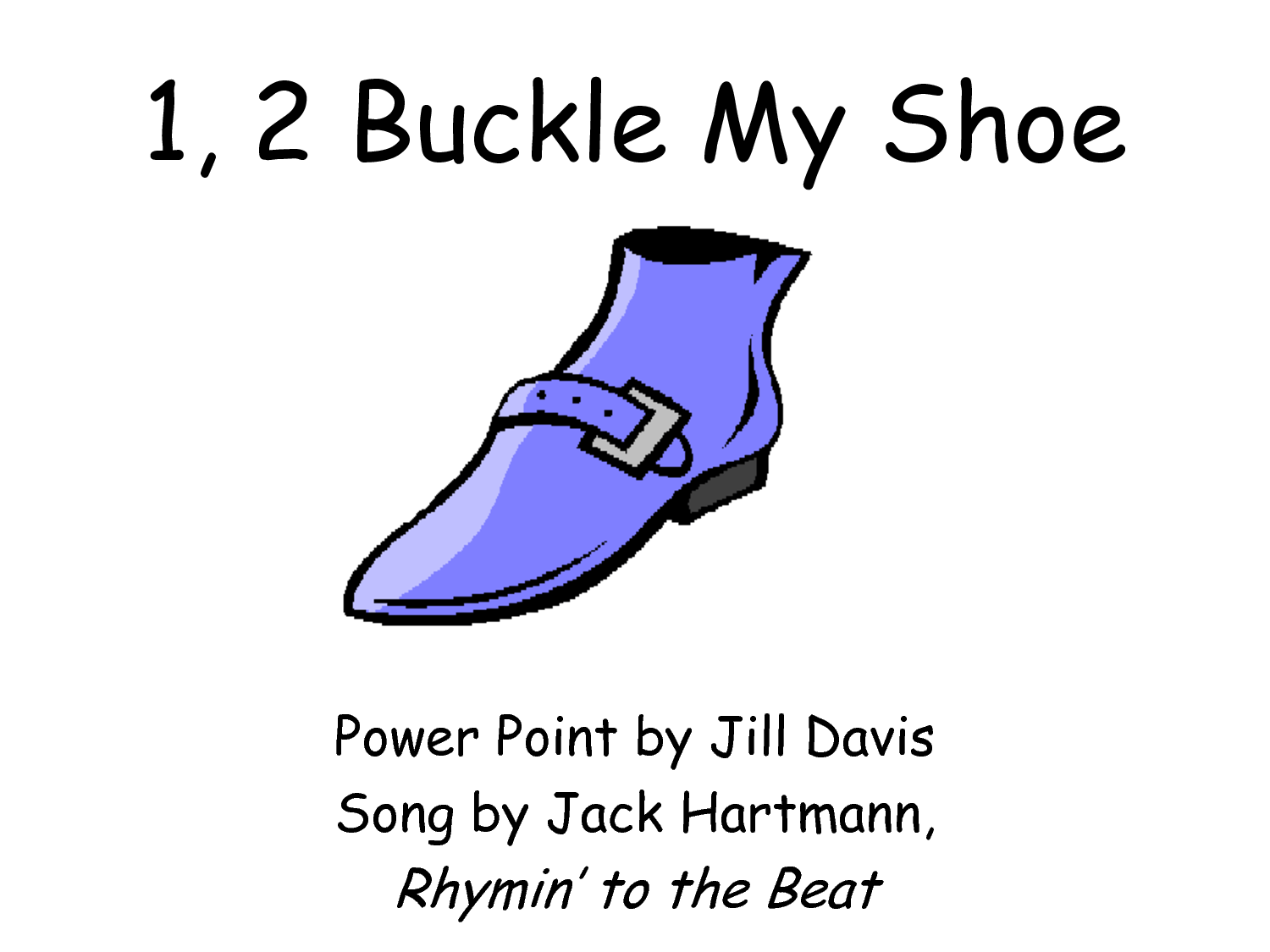 Buckle My Shoe Clipart
