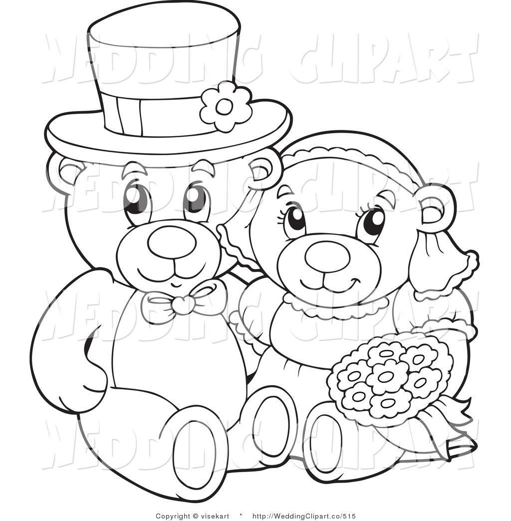 Teddy Wedding Clipart