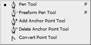Select pen tool