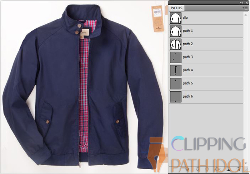 Photoshop image Multiple Clipping Path
