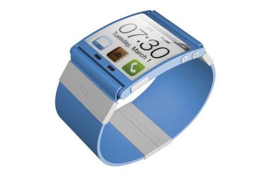 Reloj smartphone pulsera de color azul