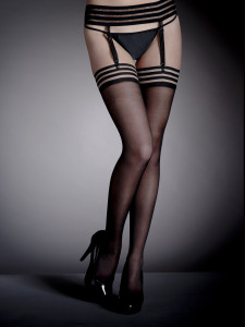 Fashion Black Stocking Suspender Set