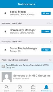 Screenshot of LinkedIn Jobs Search App