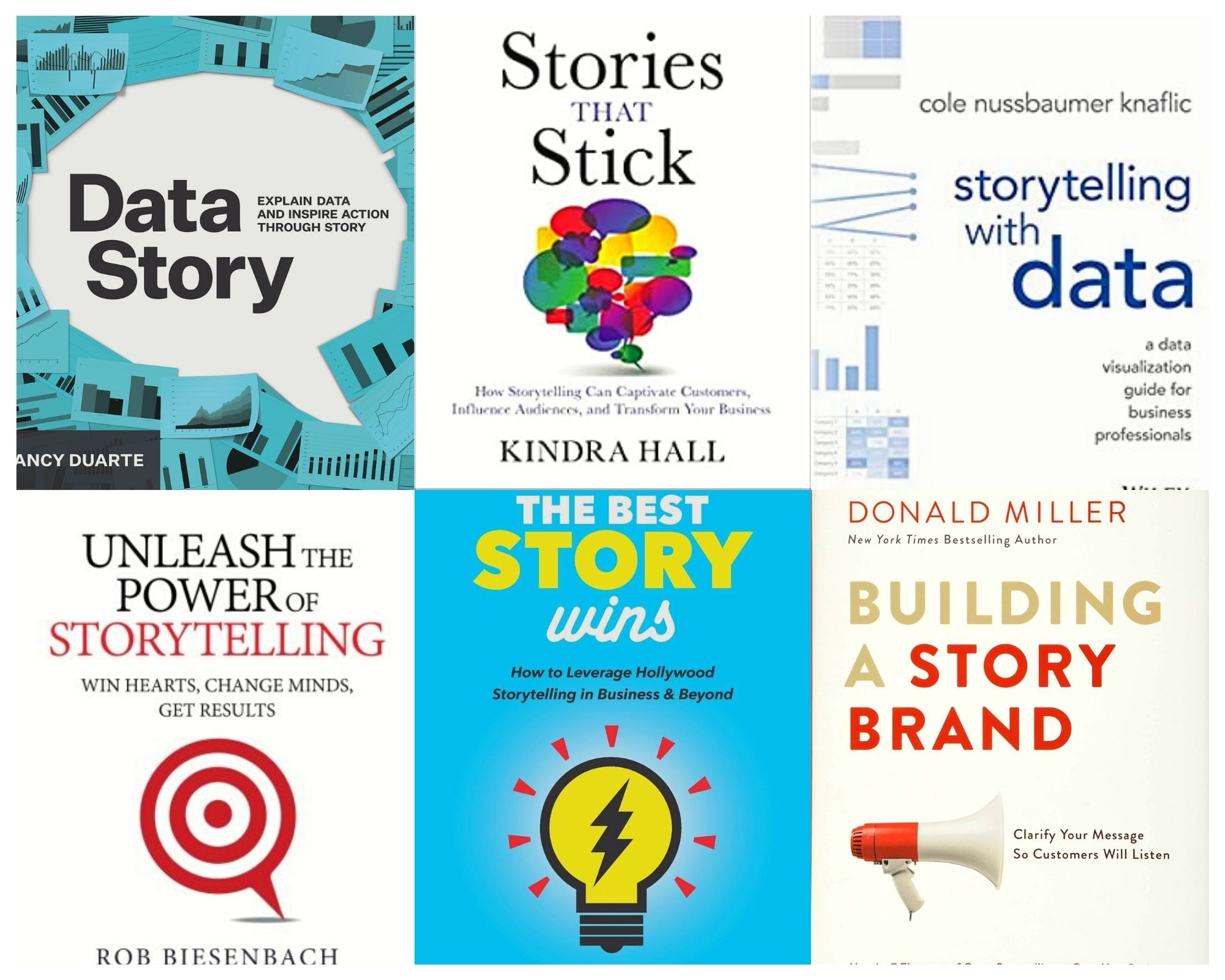 A collage of 6 storytelling books to read in 2021