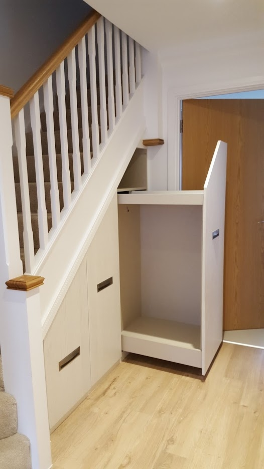 Under Stairs Drawers Storage Units Clive Anderson Furniture | Wardrobe Design Under Stairs | Shoe Rack | California Closets | Shoe | Space | Stairs Storage Solutions