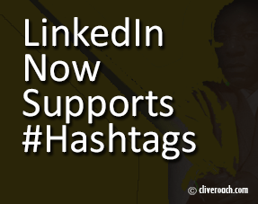 LinkedIn now supports hashtags