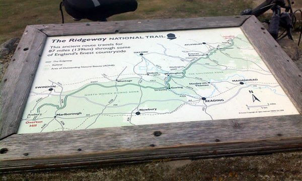The Ridgeway, map at Ivinghoe beacon