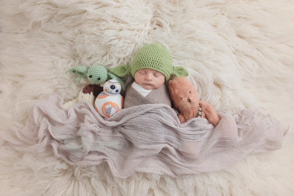 Dallas Newborn Photographer Star Wars Portrait Newborn CLJ Photography