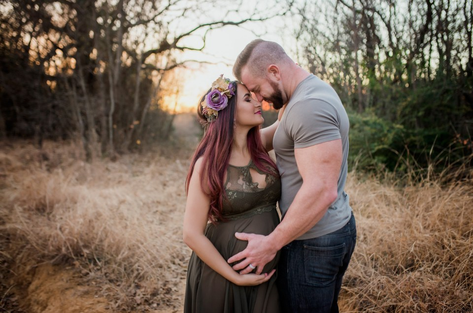 Dallas Studio Pregnancy Portrait CLJ Photography