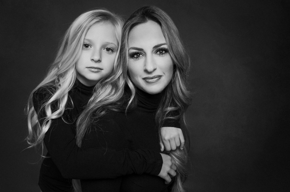 Studio Mommy and Me Daughter Photo Shoot Dallas Modern Portrait CLJ Photography