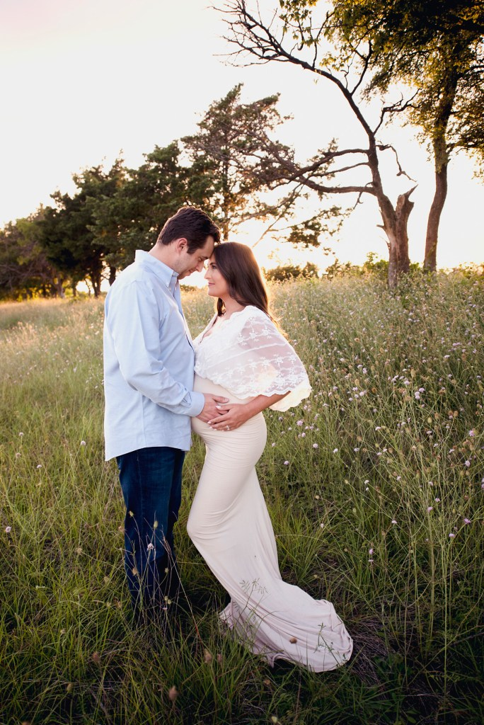 Hilltop maternity shoot field maternity shoot texas pregnancy photographer maternity gowns dallas CLJ Photography