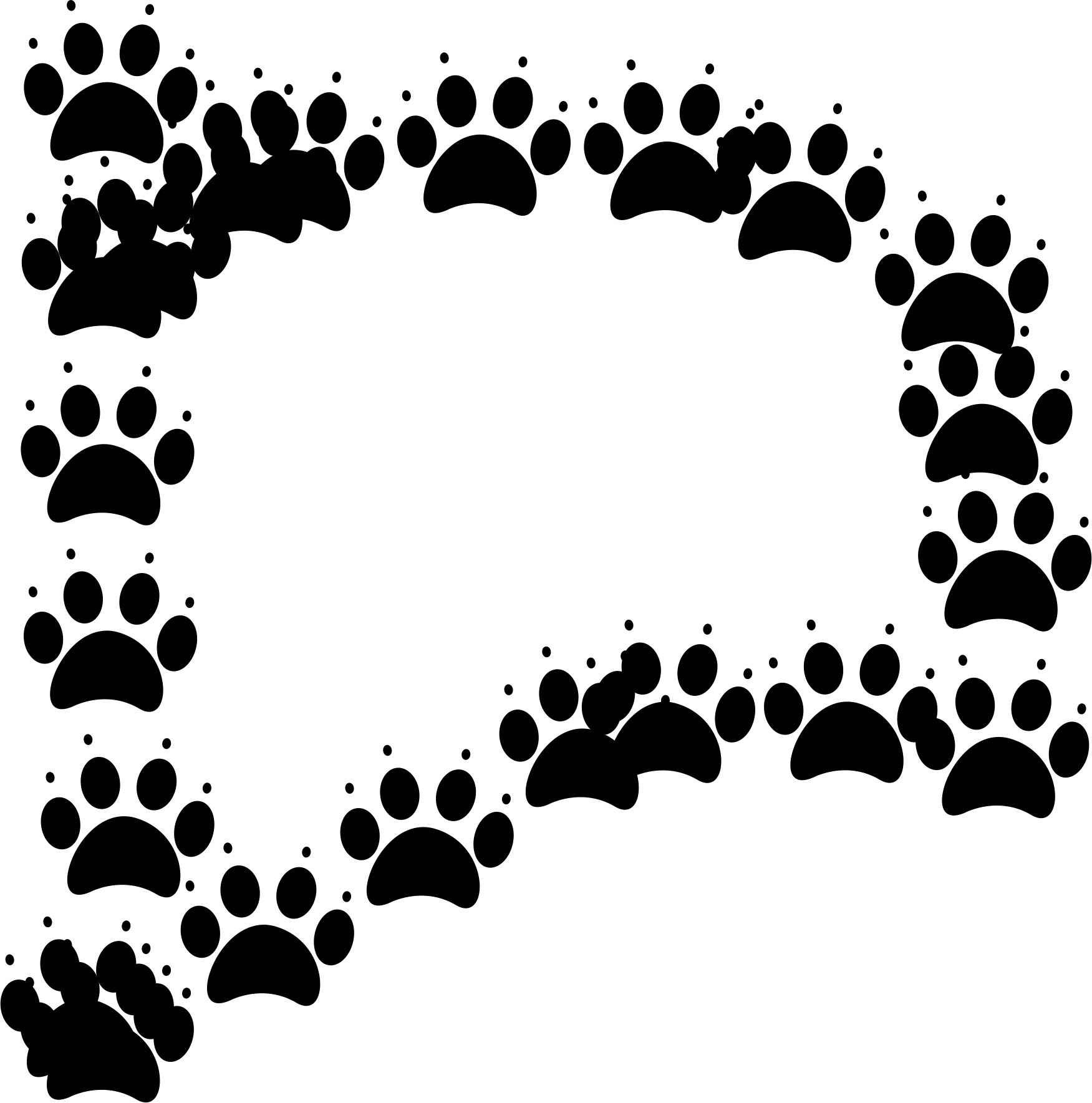 Pawprints Free Images At Clker
