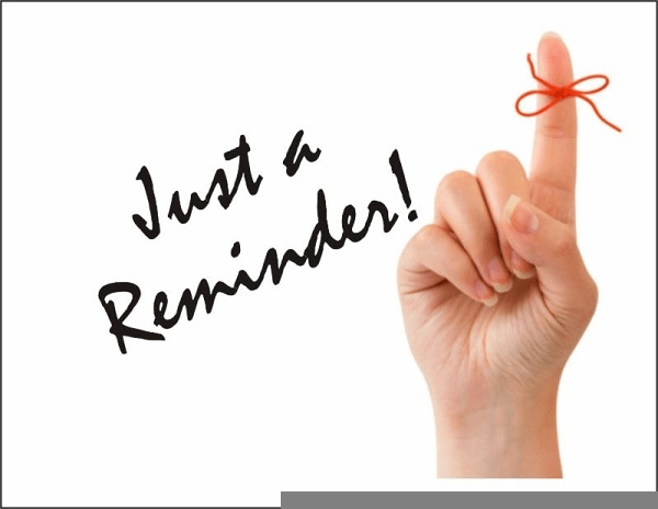 Just A Reminder Clipart   Free Images at Clker.com ...