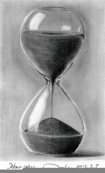 Hourglass Pencil Drawing Free Images At Clker Com