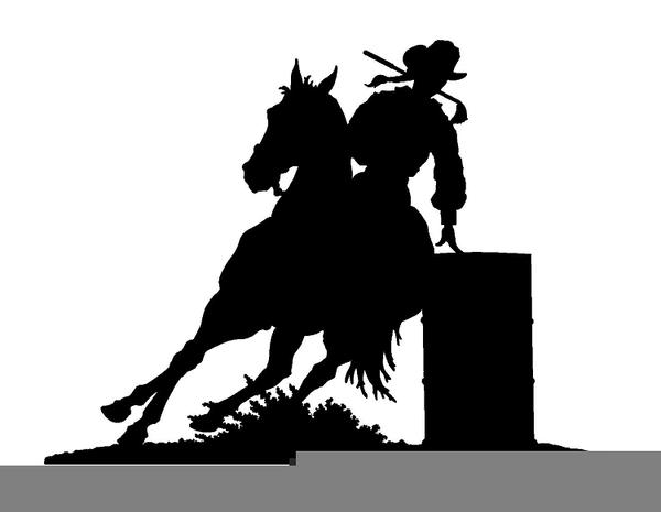 barrel racer racing clip art
