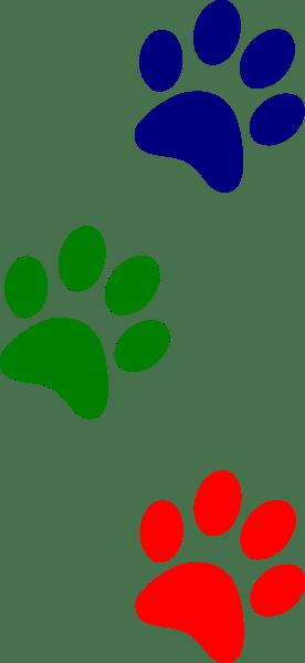 Paws Green Red Blue Clip Art At Clker Com Vector Clip