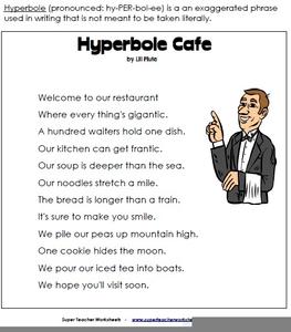 Hyperbole Exaggeration Poems
