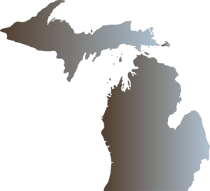 Michigan Outline With Great Lakes Clip Art at Clker.com ...