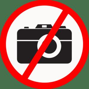 No Camera Allowed clip art