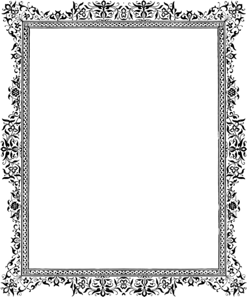 P Border Monochrome X | Free Images at Clker.com - vector ...