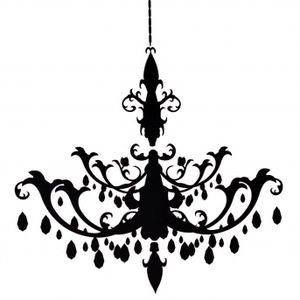 Resize Chandelier Decal Image