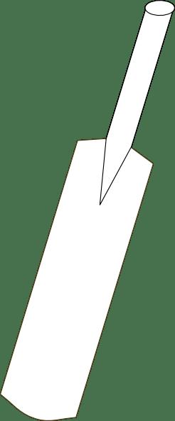 Cricket Bat Outline Clip Art at Clker.com - vector clip