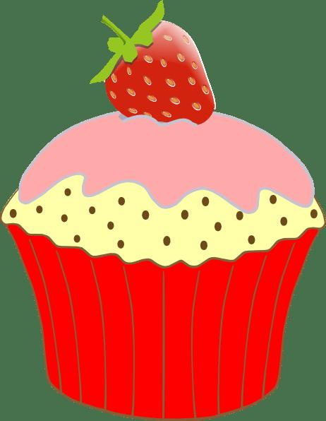 Strawberry Cupcake Clip Art At Clker Com Vector Clip Art