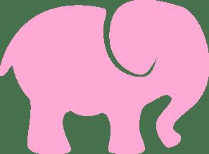 Download Baby Pink Elephant Clip Art at Clker.com - vector clip art ...