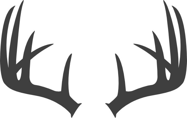 Antlers Dark Grey Clip Art At Clker Com Vector Clip Art