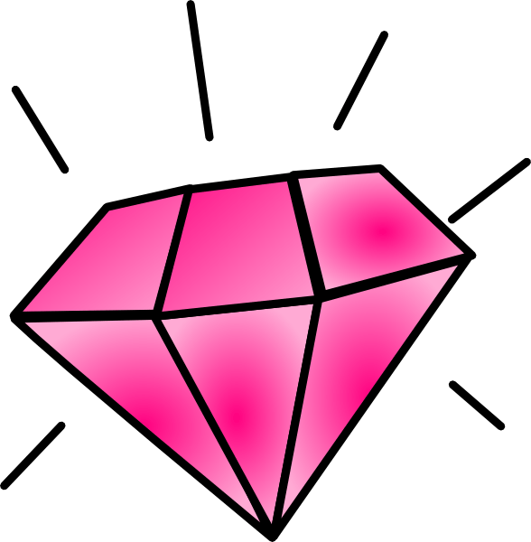 Image result for free clip art Pink Diamonds