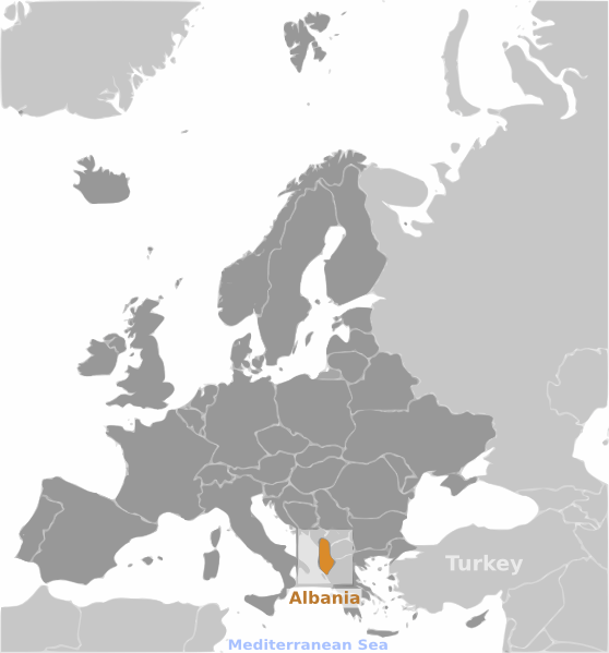 Where in the world is Albania?