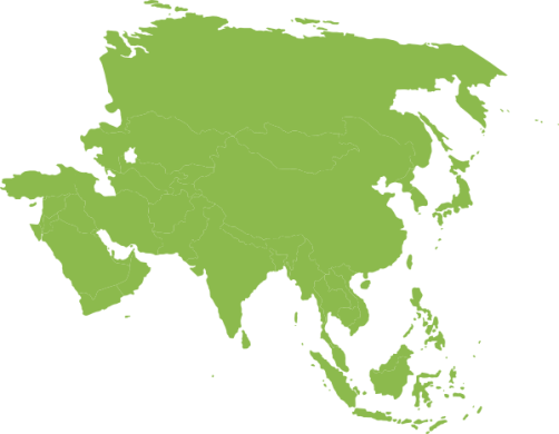 Asian Continent Green Clip Art at Clker com   vector clip art online     Download this image as