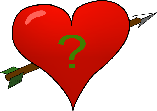 Valentine Heart Arrow With Questionmark Clip Art At Clker