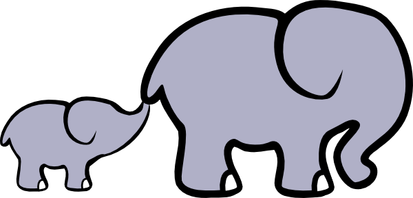 Download Baby Elephant And Adult Elephant Clip Art at Clker.com ...