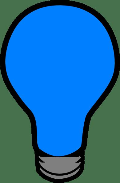 Blue Lightbulb Clip Art At Clker Com Vector Clip Art