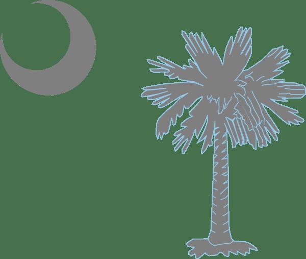 Palmetto And White Black Tree