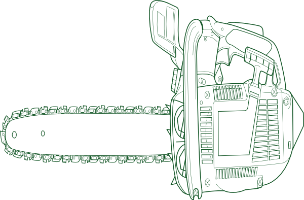 Chainsaws People Coloring Pages