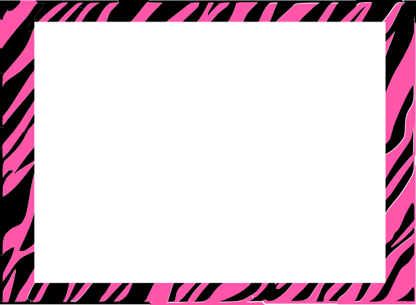 Pink And White Zebra Print Background Clip Art At Clker