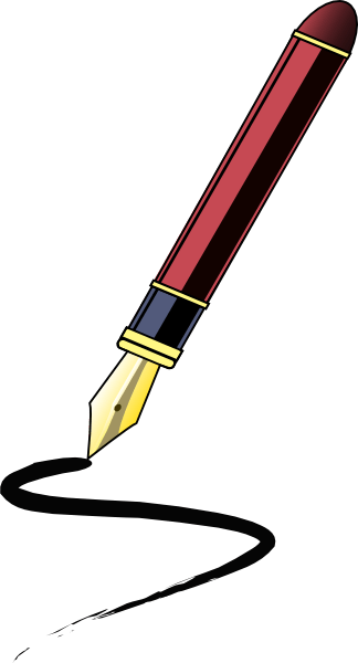 Feather Quill Ink Pen Cartoon