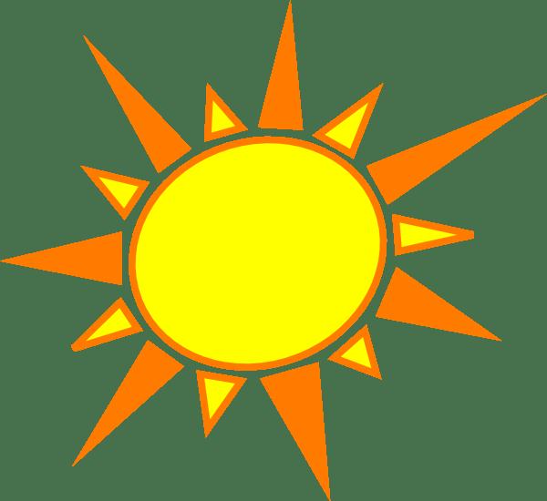 Yellow And Orange Sun Clip Art At Vector Clip