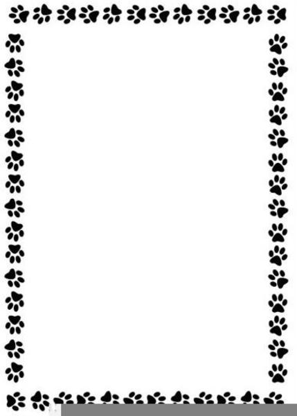 Puppy Art Print Border Clip Paw
