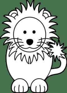 Lion Black White Clip Art At Clker Com Vector Clip Art Online Royalty Free Public Domain