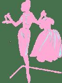 Pink Dress Silhouette Clip Art