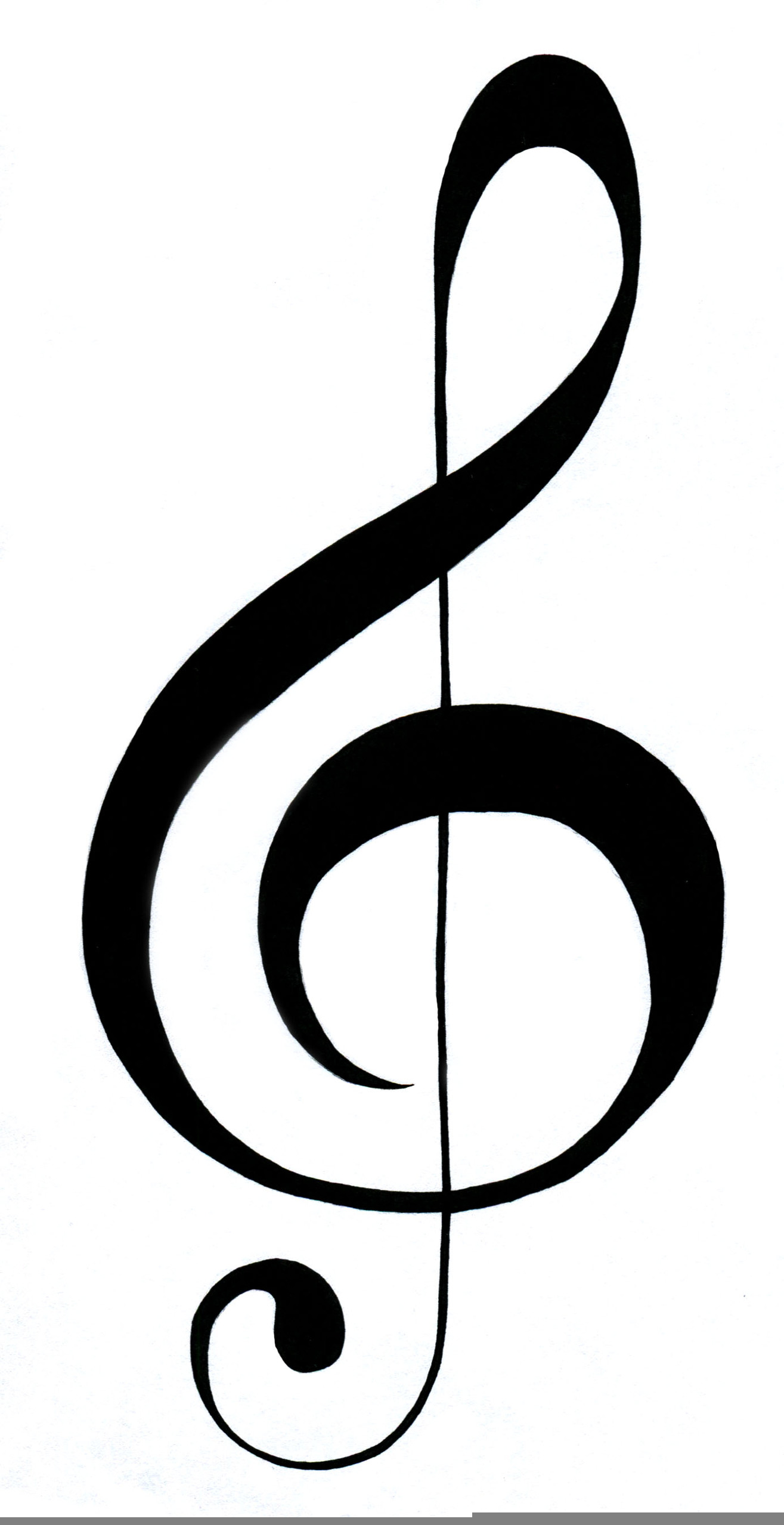 G Clef Free Clipart Free Images At Clker