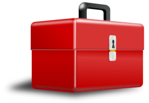 Red Metal Tool Box Clip Art