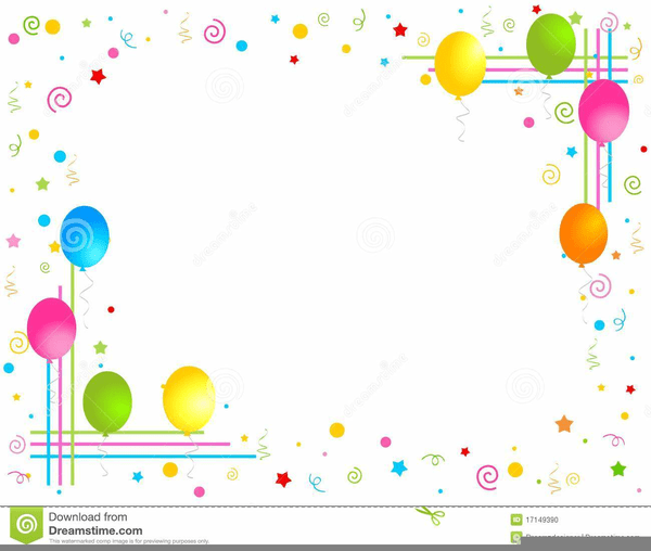 Border Clipart Balloons And Free Images At Clker Com