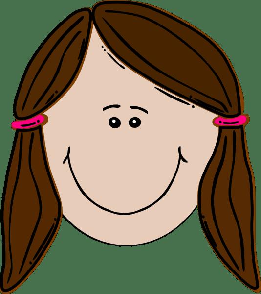 Brunette Teenager Pinky Clip Art At Vector
