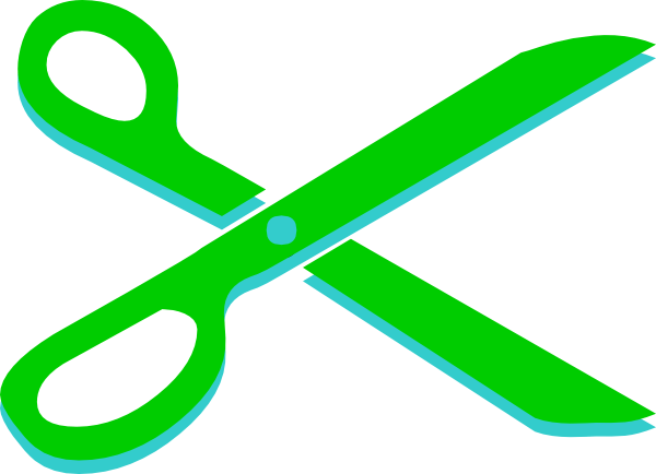 Light Green And Teal Scissors Clip Art At Clker Com